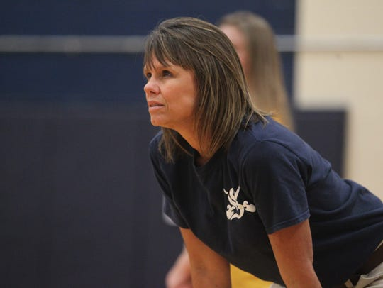 Sneads volleyball coach Sheila Roberts, a coach at