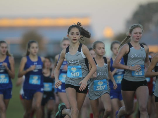 Maclay seventh-grader Ella Porcher races during her