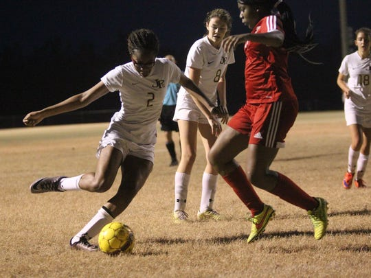 The St. John Paul II girls soccer team fell 3-2 to Mayo Lafayette in a District 1-1A quarterfinal. Nina Ijeoma scored two second-half goals for the Panthers.