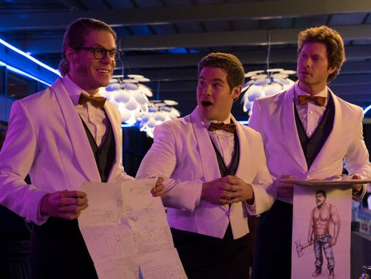 Blake Anderson (from left), Adam DeVine, Anders Holm