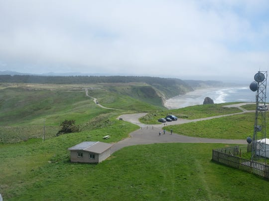 The view from the top of the Cape Blanco Lighthouse on the Oregon Coast.
