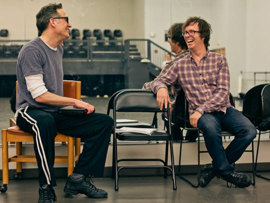 "Ben Folds, right with Vasterling, has composed his first piano concerto as part of ""The Ben Folds Project."""