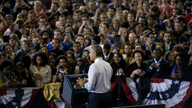 President Obama speaks at Georgia Tech.