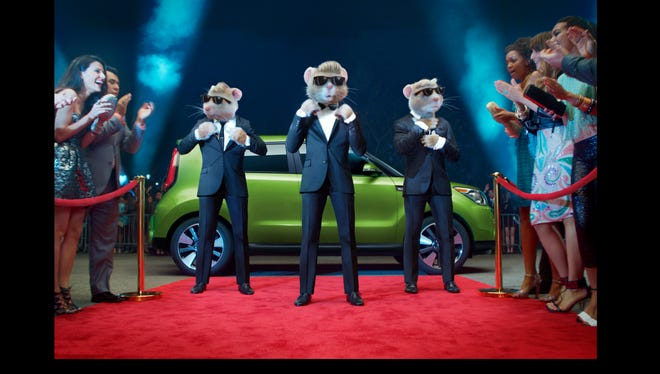 Kia's hamsters return after working out at the gym in a new ad campaign for the Soul