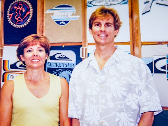 Pictured, at left, is Don French's sister Susan who