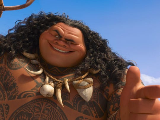 "Maui (Dwayne Johnson) is a reluctant hero in ""Moana."""