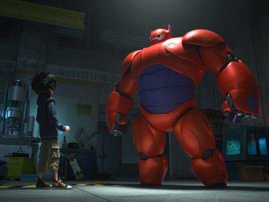 "Hiro Hamada transforms his closest companion a robot named Bayma — into a high-tech hero in the action-packed comedy-adventure ""Big Hero 6."""