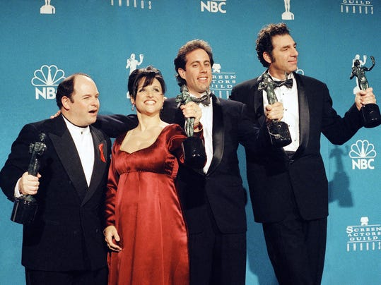 Jason Alexander, Julia Louis-Dreyfus, Jerry Seinfeld, Michael Richards