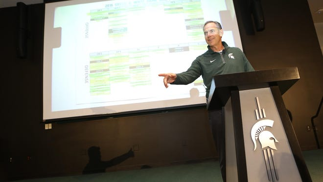 MSU football coach Mark Dantonio hosts the annual Spartan spring game players draft Tuesday.