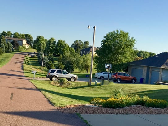 A road on Splitrock Heights, pictured on July 6, 2017.