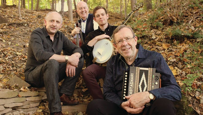 Irish folk musician Paul Brock and his band are scheduled to appear at Jackson State Community College on Monday.