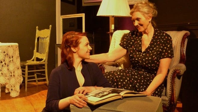 "Laura Heikkinen and Connie Cowper in Puzzle Piece Theatre's production of ""The Glass Menagerie."""
