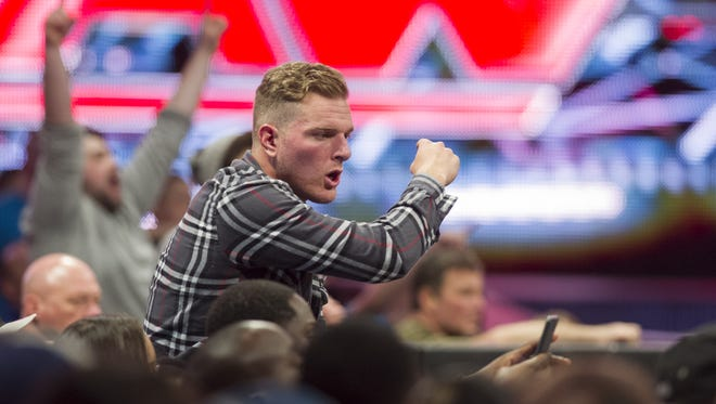 Indianapolis Colts punter Pat McAfee, who attended this WWE event at Bankers Life Fieldhouse in 2014, said it is lifelong dream to become a professional wrestler.