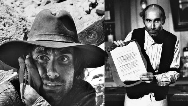 James in two Clint Eastwood western classics 'High Plains Drifter', left, and 'Unforgiven'.
