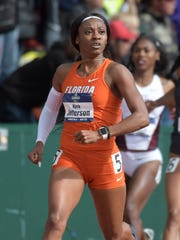 Kyra Jefferson won the 200 at the NCAA championships on June 10.