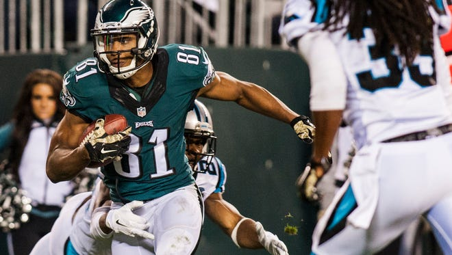Eagles wide receiver Jordan Matthews will miss at least the first two preseason games, and possibly all four, with a strained left knee.