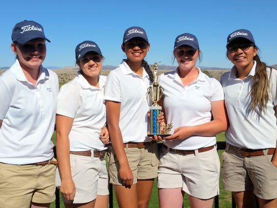 The Deming High School Lady Wildcat golf team placed