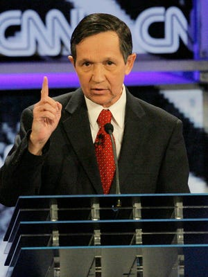 Democratic presidential hopeful, Rep. Dennis Kucinich, D-Ohio, responds to a question during a debate at the University of Nevada in Las Vegas, Thursday, Nov. 15, 2007. (AP Photo/Jae C. Hong)