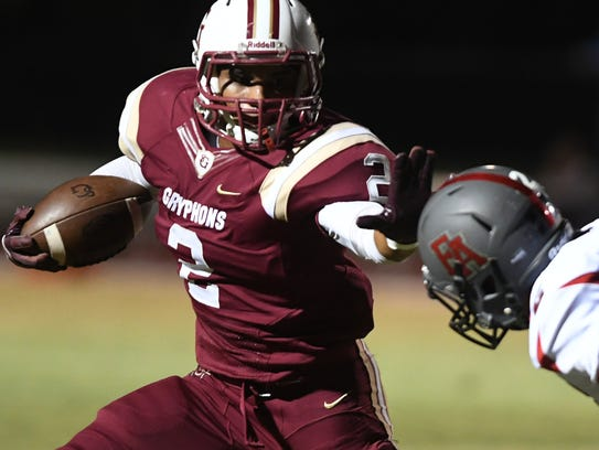 St. George's running back Chase Hayden is among several
