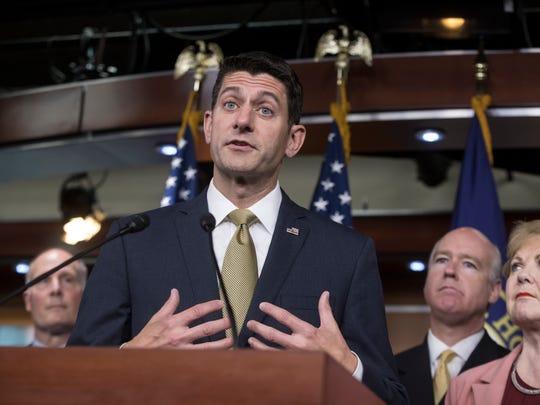 House Speaker Paul Ryan, R-Wis., speaks on Capitol