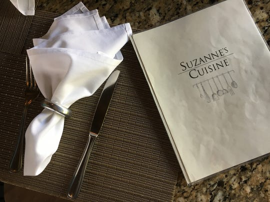 A place setting is seen during a recent lunch service
