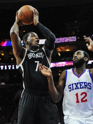 Joe Johnson (7) scored a team-high 21 points as the Nets won for just the second time in eight games.