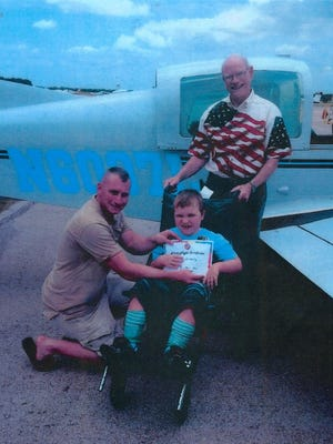 Children with chronic illnesses can get a free plane ride Saturday when the Flying Vikings soar into town.