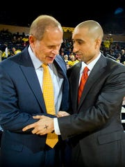 John Beilein, left, and Shaka Smart.