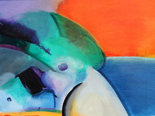 Abstract painter Phil Dimmer will appear at the Coconut Point Art Festival from Feb. 17-18.