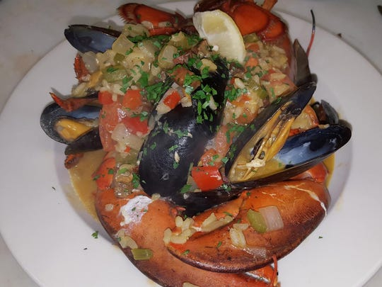Lobster paella from Dockside Market and Grill.
