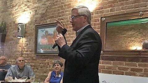 Lt. Governor candidate Mike Collier speaks at Fuentes Cafe on Thursday, May 24, 2018.