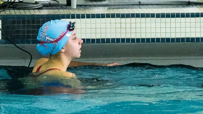 Kate Douglass wons both the 50 and 100 Yard Freestyle events at the 2016 NYSPHSAA Swimming and Diving Championships held at Ithaca College.