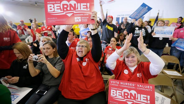 Nurses react as Democratic presidential candidate,