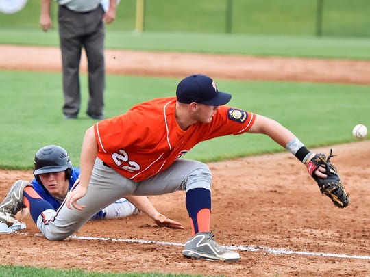 Chambersburg's Kevin Carbaugh slides back into first