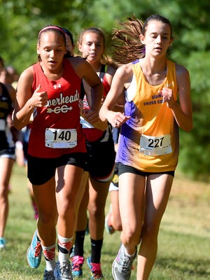 Hannah Jane Upson, right, will be one of the top runners this season for Waynesboro's girls cross country team.