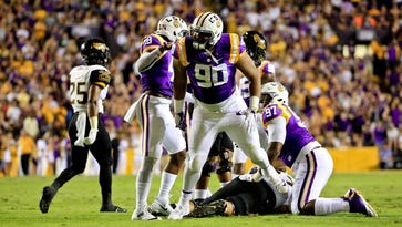 'Honest to God, they had a great day,' LSU TE Foster Moreau on offense getting shut out