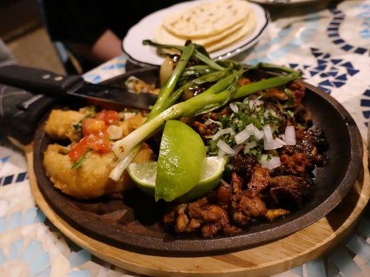"""""""La Parillada"""" with pork al pastor and fish at Gallo"""