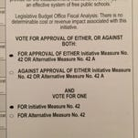 A ballot sent to Hinds County absentee voters.
