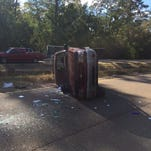 5 injured in rollover wreck on US 49