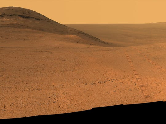 NASA's Mars rover Opportunity recorded a panoramic