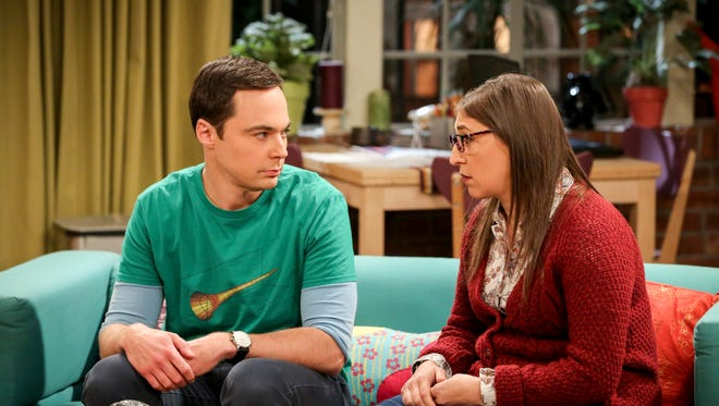 'The Big Bang Theory' May 10 season finale will center on the wedding of Sheldon (Jim Parsons), left, and Amy (Mayim Bialik).