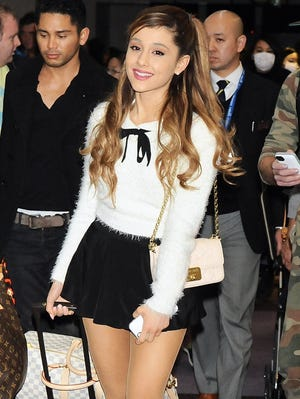 Ariana Grande arrives at Narita International Airport on Dec. 31 in Japan.