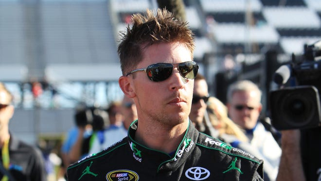 Denny Hamlin finished third in Sunday's Brickyard 400 but his No. 11 Toyota encountered issues in postrace inspection.