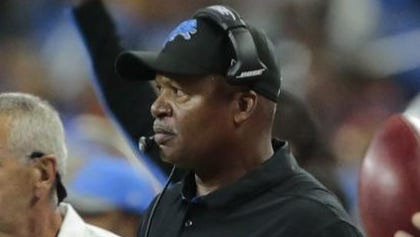 Jim Caldwell watches his team lose sloppily to the Cincinnati Bengals on Thursday at Ford Field. Caldwell and the Lions have Week 3 of the exhibition season to clean up their mess.
