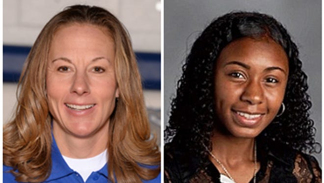 The Summit Country Day School's girls basketball Head Coach Beth Simmons (left) has been named Coach of the Year and freshman guard Ravin Alexander of Fairfield was named Player of the Year in the Associated Press (AP) All-Southwest District.