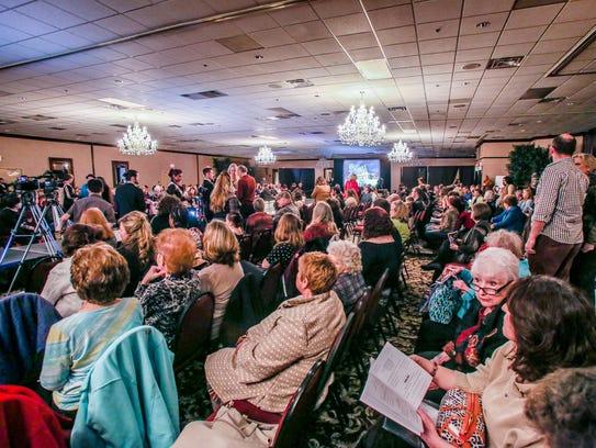 The ballroom at Crystal Gardens Banquet Center was
