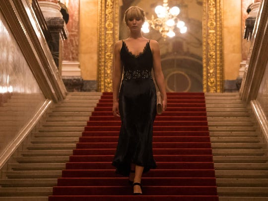"Jennifer Lawrence stars in ""Red Sparrow,"" opening March 1 at Frank Theatres Queensgate Stadium 13 and R/C Hanover Movies."