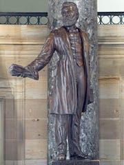 The Jason Lee statue at National Statuary Hall at the U.S. Capitol.