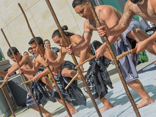 Performers at the Chamorro Cultural Festival held in San Diego March 18-20.