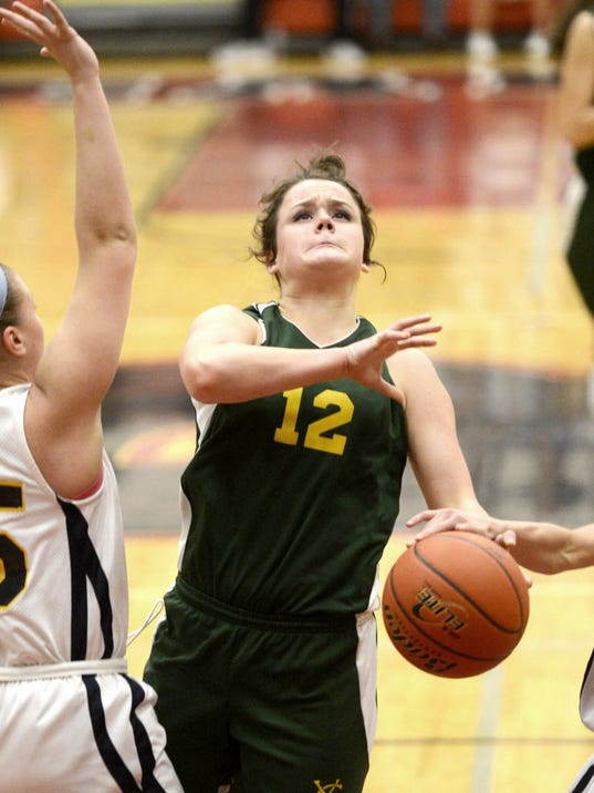 Amelia York helped York Catholic return to the PIAA Class AA girls' basketball championship game for a seventh time in eight years. She will have Aug. 1 surgery to repair a torn ACL and MCL suffered this summer. (GAMETIMEPA.COM -- FILE)